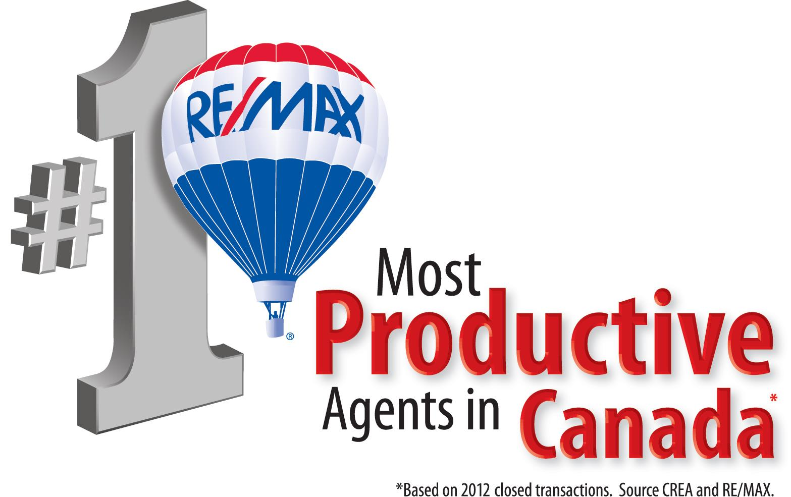 Most productive Realtors in Canada - RE/MAX
