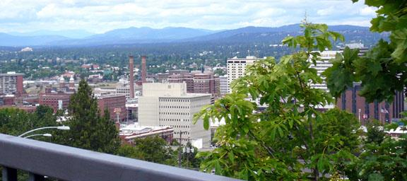 Overlooking Downtown Spokane