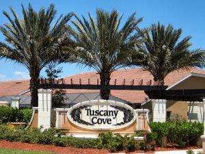 Tuscany Cove Naples Fl community entrance sign