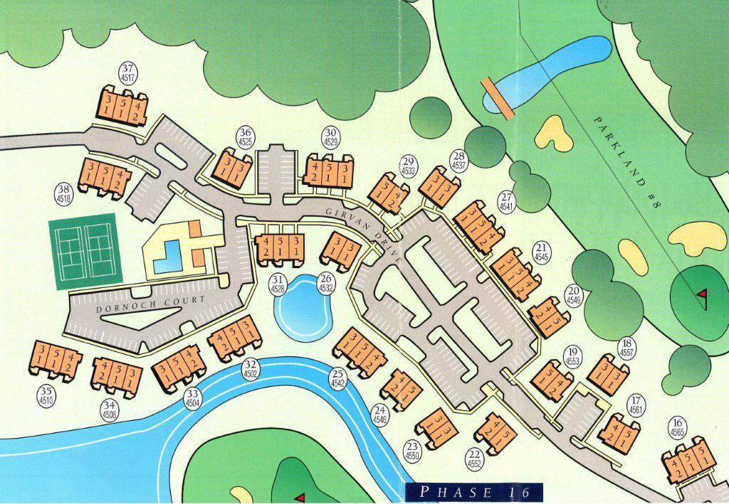 site map for turnberry park