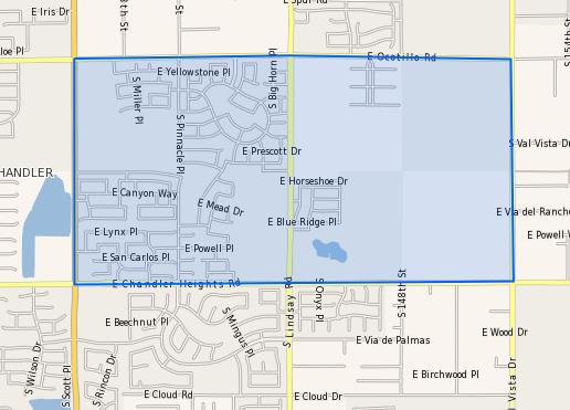 Ryan_Elementary_School_Homes_for_Sale Boundary Map