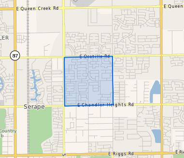 Santan_Elementary_School_Homes_for_Sale Boundary Map