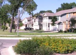 A view of the homes in the Grand Oaks neighborhood in South Austin, Texas.