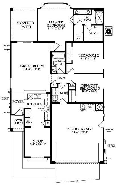 Sun city festival spirit floor plan model home del webb for City house plans