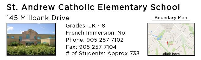 st andrew catholic elementary oakville