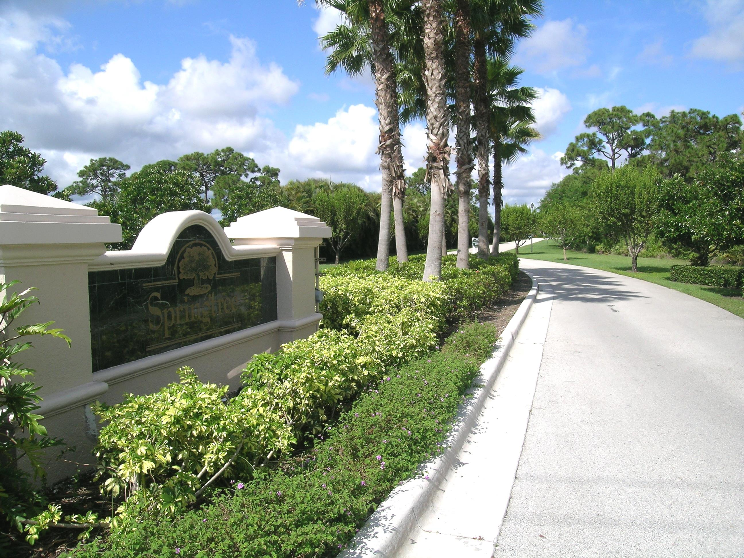Springtree Entrance - Stuart Florida real Estate