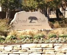 Sign at the entrance to the Grand Oaks subdivision in South Austin 78745