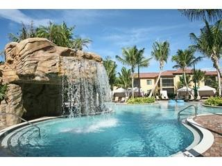 Naples Bay Resort waterfall