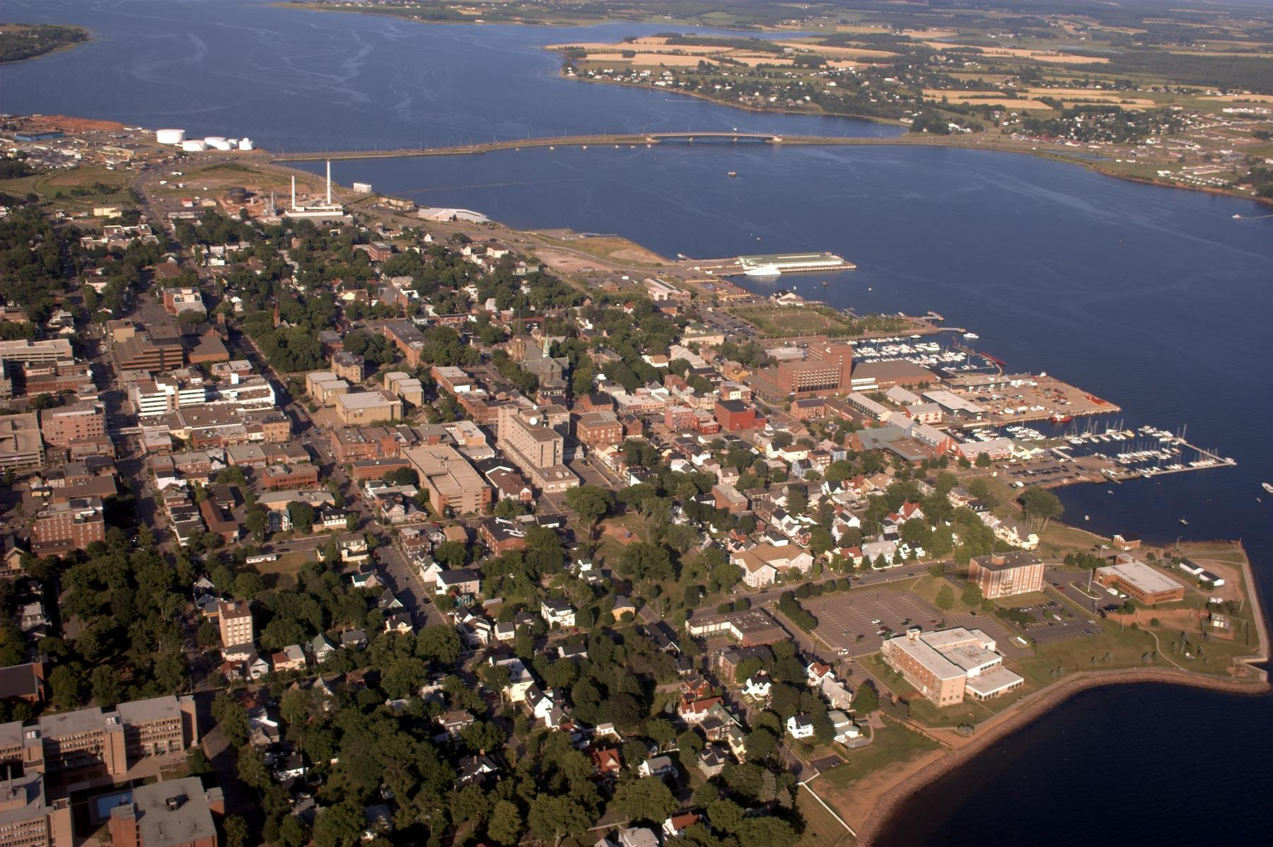 """""""Charlottetown aerial photo"""" by Martin Cathrae from Charlottetown, PE, Canada - First Look at Charlottetown. Licensed under CC BY-SA 2.0 via Wikimedia Commons - http://commons.wikimedia.org/wiki/File:Charlottetown_aerial_photo.jpg#/media/File:Charlottetown_aerial_photo.jpg"""