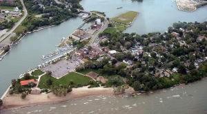 Aerial view of Port Dalhousie