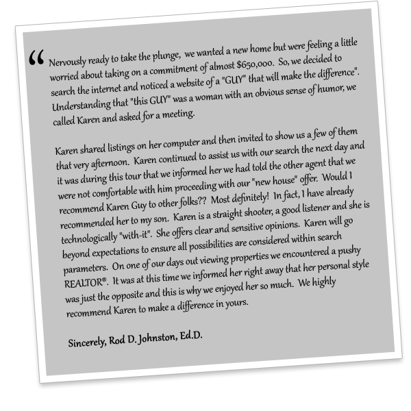 Testimonial from Rod D. Johnston, Ed.D