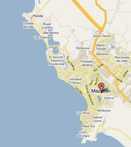 Map of Mazatlan