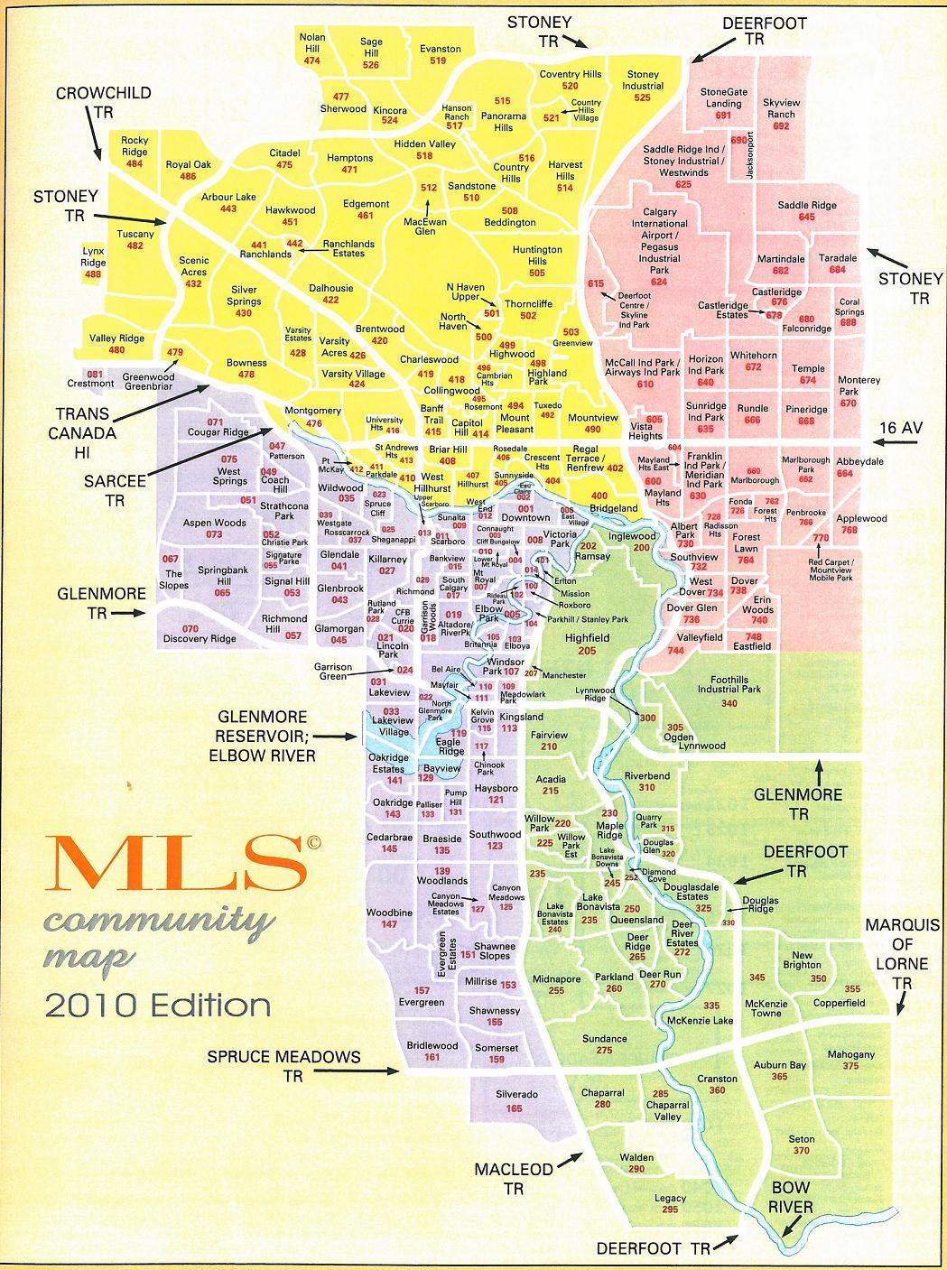 Mls Calgary Map Calgary MLS Communities Map