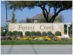 The entrance to Round Rock's Forest Creek Subdivision