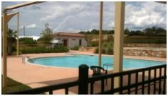 The community pool in Aviara, Southwest Austin