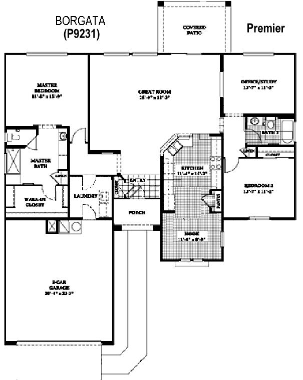 Sun City Grand Borgata floor plan, Del Webb Sun City Grand Floor Plan Model Home House Plans Floorplans Models in Surprise Phoenix Arizona AZ Ken Meade Realty Kathy Anderson