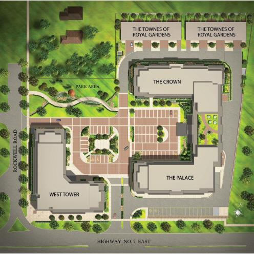 Royal Gardens site  plan