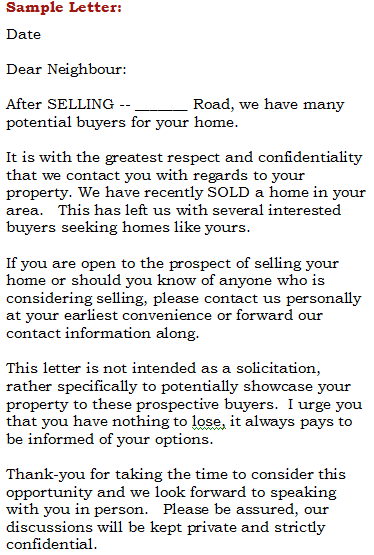 Sample Letters To Prospective Clients