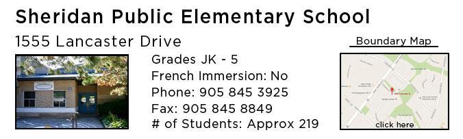 sheridan public elementary school oakville