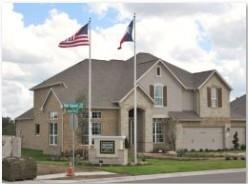 A builder model home in the Ridgeview community in SW Austin.