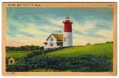 Old Postcard - Nauset Light