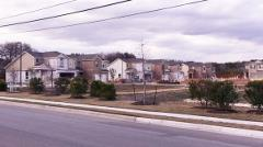 Panoramic view of construction in the Lynnbrook subdivision in Austin 78748