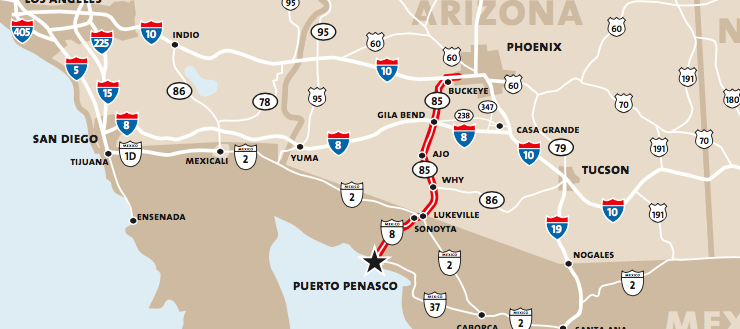 How to get to Puerto Penasco