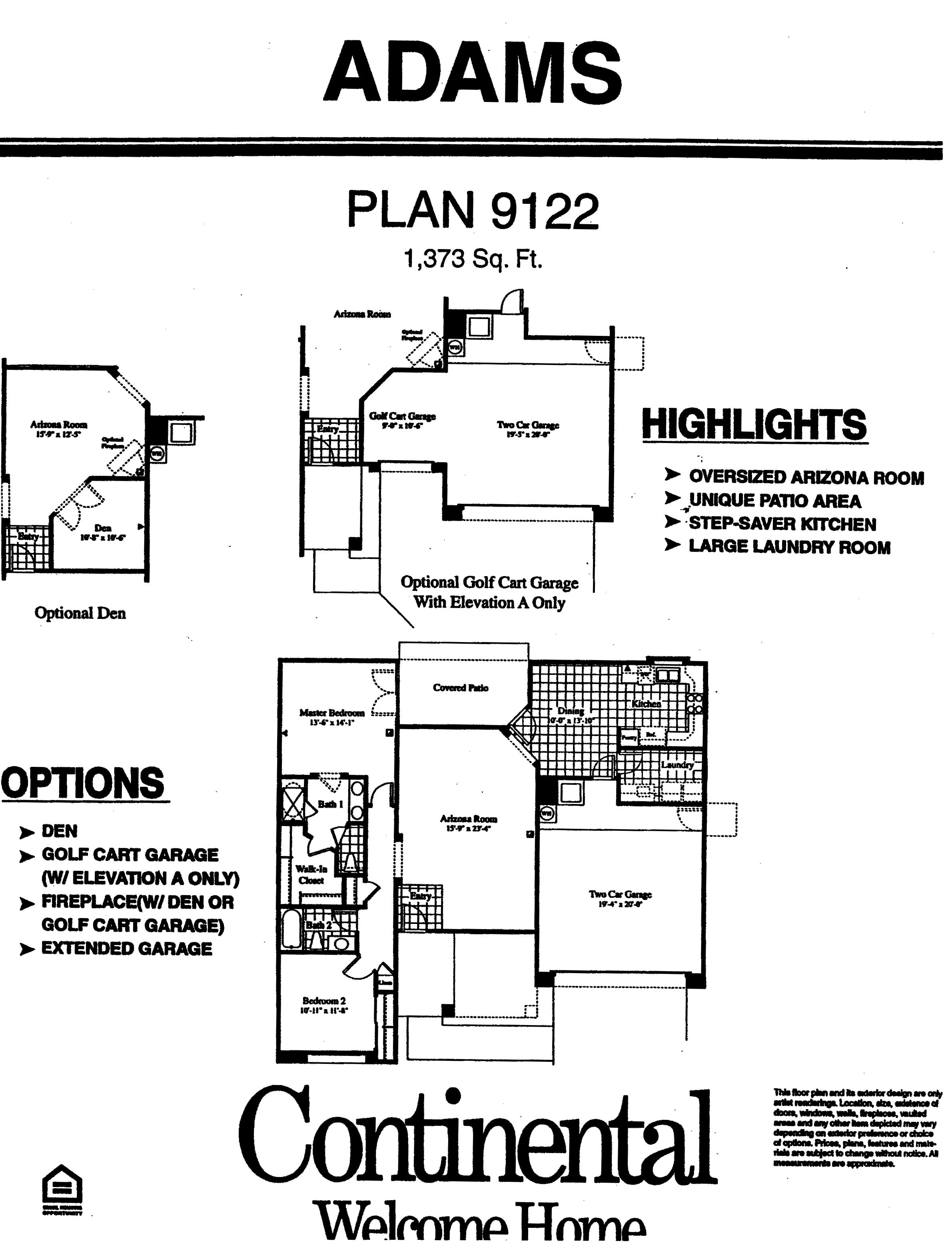 Arizona Traditions Floor Plans plan model home homes floorplans surprise arizona az