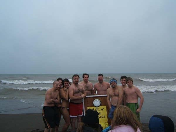 Hamilton Realtor braves the elements on this New Years day polar bear dip