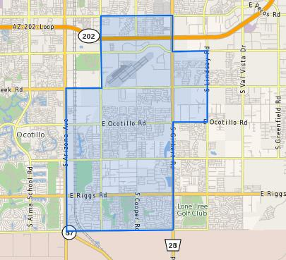 Santan Junior High School Boundary Map