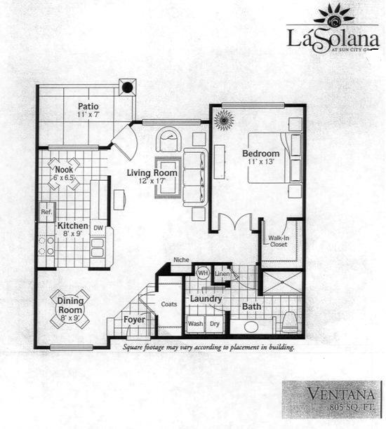 Sun City Grand La Solana Condo Ventana Condominium Floor Plan Model ...