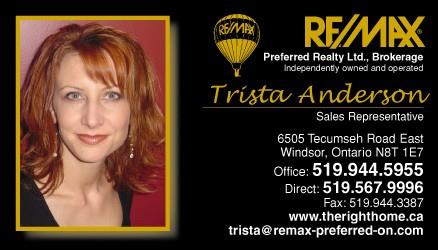 Trista Anderson,  Windsor Real Estate