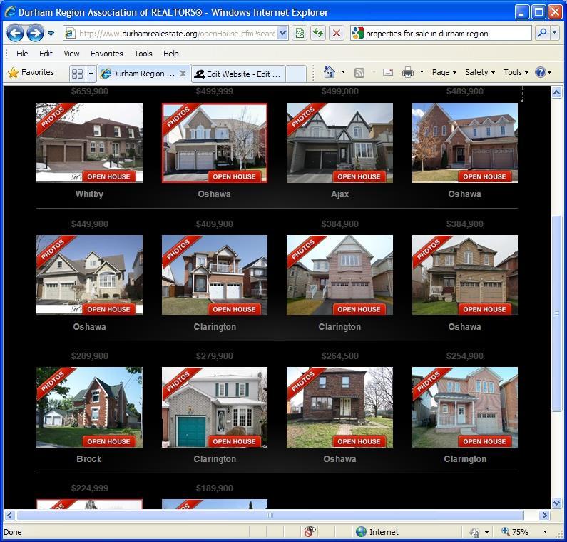 Durham Region Open Houses