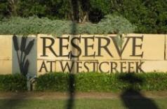 Reserve at Westcreek Neighborhood Monument