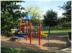 The playground in Parkside at Slaughter Creek's Lauren Park.