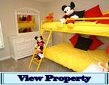 5 Bedroom Emerald Island Home to Rent with Mickey Mouse Bunk Bedroom