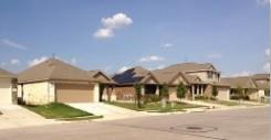 A view of the homes in Bradshaw Crossing 78747.