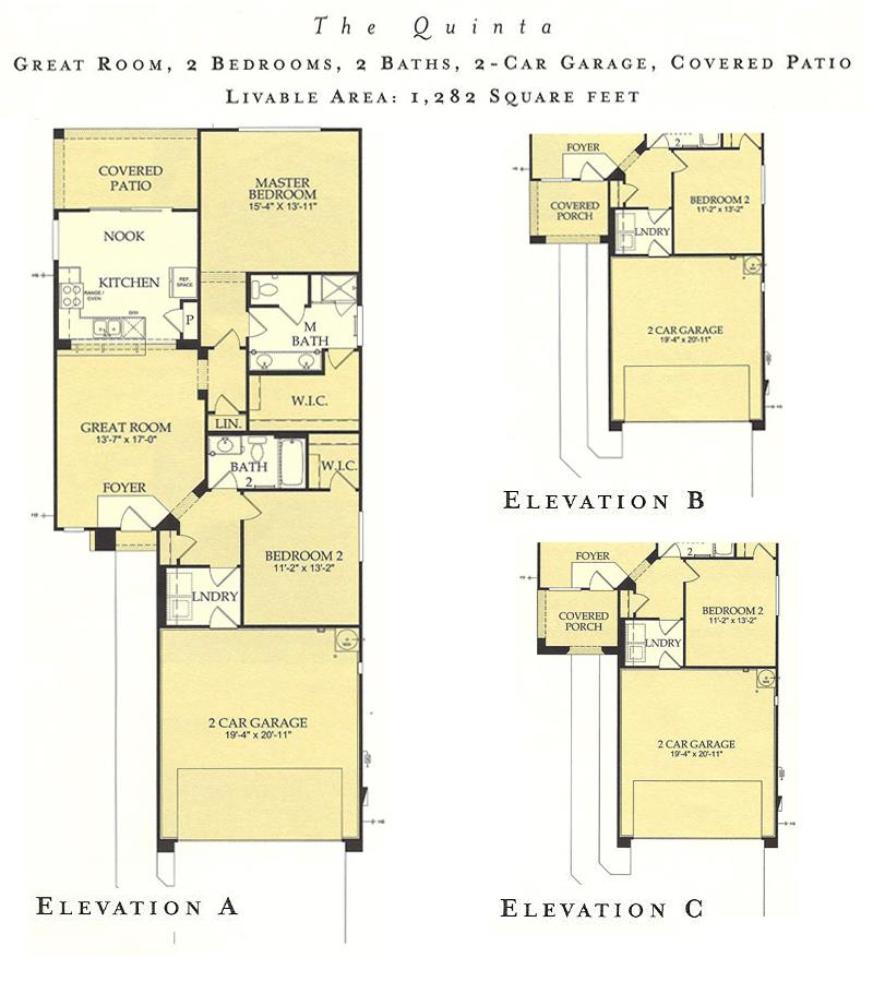 Corte Bella Quinta floor plan model