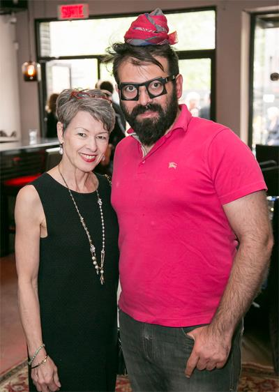 Marie Paule Lancup, REALTOR, and Reza Azarppor, Owner of Bar-restaurant ARËM in Griffintown, Montreal