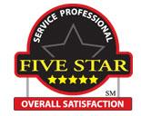 Service Professional Five Star Overall Satisfaction