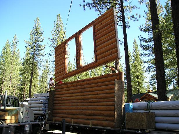 California log home dealers help you select log home kits for Panelized building systems