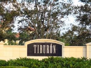 Tiburon Naples Fl community sign
