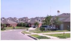 A view of the lovely Amberwood neighborhood in Kyle, Texas.
