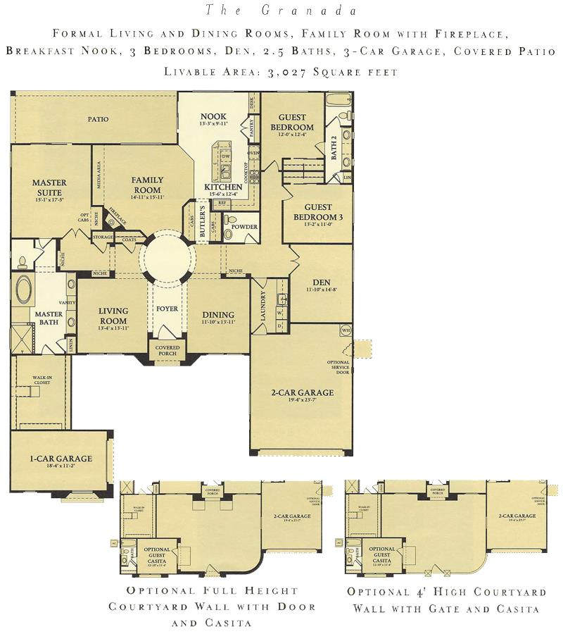 Corte Bella Granada floor plan model