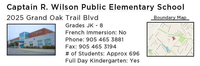 captain r wilson public elementary school oakville