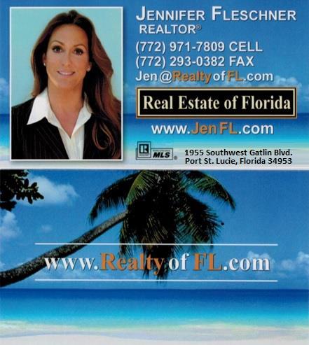 Business Card for Jennifer Fleschner, Realtor