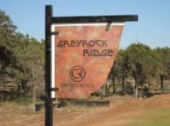 Greyrock Ridge sign in SW Austin's Circle C Ranch 78739.