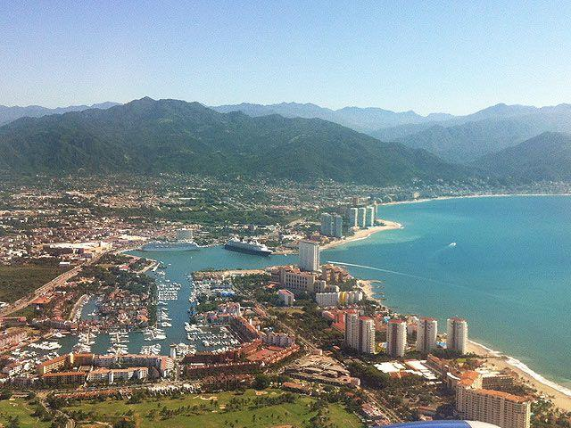 aerial view of Puerto Vallarta