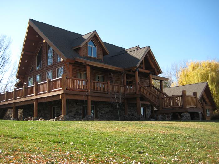 Exterior: California Log Home Kits And Pre Built Log Homes, Custom