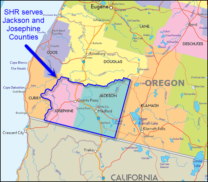 Sutton Homes Realty serves the Jackson and Josephine County areas of Southern Oregon